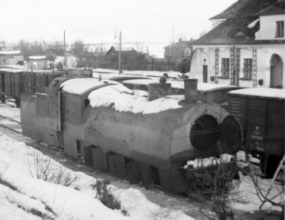 Armoured train  Nr.15 captured in Modlin