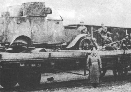 Austin as a part of the 'Związek broni' armoured train [Photo source 2]
