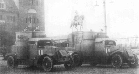 British Austin 3rd series armoured cars.