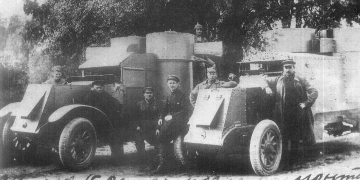 Austin armoured cars of the 1st Mounted Army