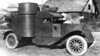 Russian Austin armoured car the 2nd series
