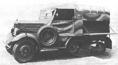 Wz.34 halftrack workshop car [sources 1,3]