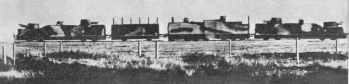 Armoured train 'Danuta' in the early 30's (unmodified locomotive)