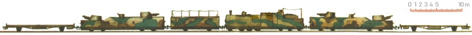 'Danuta' armoured train. The corrected drawing.