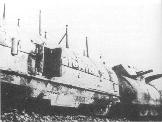 The wreck of Nr.12 Armoured Train