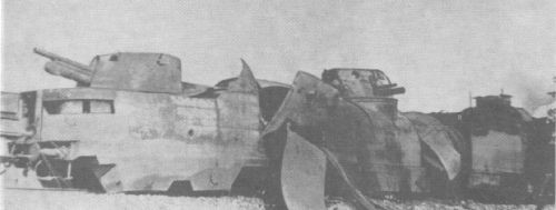 The wreck of Nr.12 Armoured Train in the battlefield...