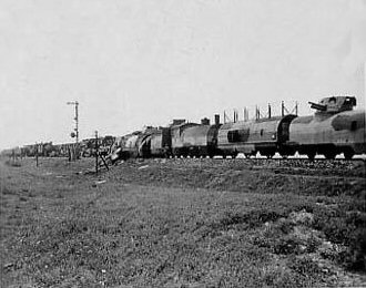 Early photo of Polish armoured train Nr.12