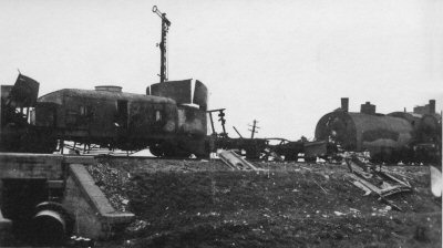 Destroyed armoured train Nr.14