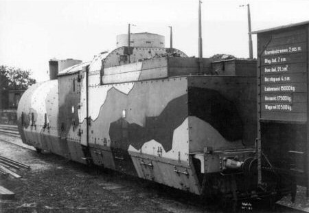 The Ti3 armoured locomotive, old camouflage scheme.