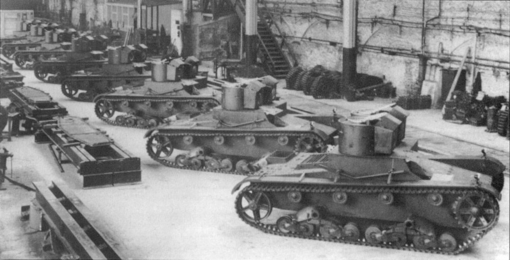 Polish Vickers Mark E tanks under construction