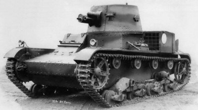 Polish modified single-turret Vickers Mk.E tank