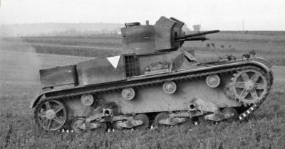 Polish Vickers Mark E tank with 13.2mm TMG.