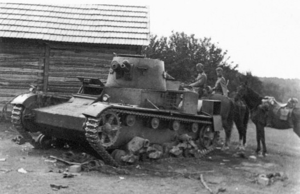 Vickers Mk.E destroyed at Trzciana