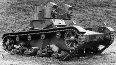 Polish early twin-turret Vickers Mk.E