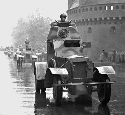Armoured car wz.34 on parade in Cracov, 21 May 1939. Photo source [2]