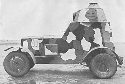 Armoured car wz.34 in old camouflage