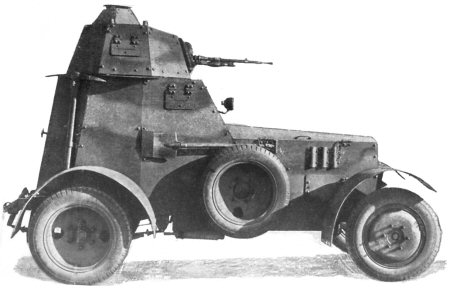 MG-armed armoured car wz.34 with new body type