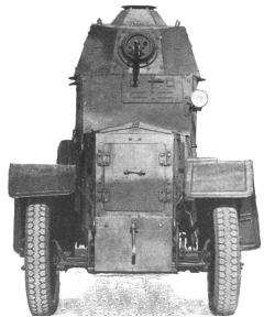 The same wz.34 armoured car from the front