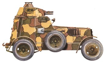 Armoured car wz.34 wearing old camouflage