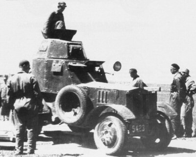 The prototype of wz.34 armoured car